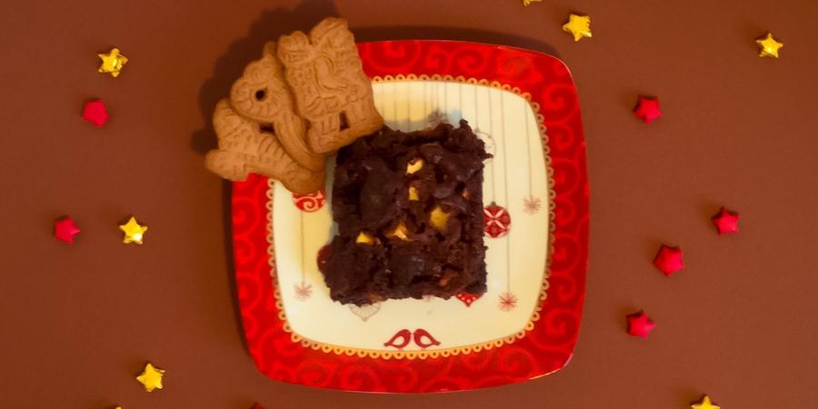 A bis Z Backchallenge Woche 26: Z wie Zimt-Apfel-Brownies mit Spekulatius