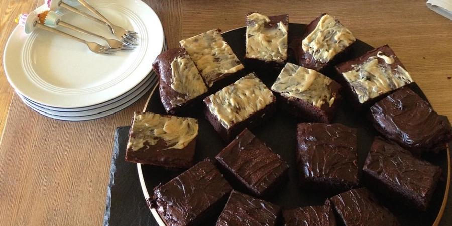 Die volle Dröhnung Kaffee und Schokolade: Coffeecake-Brownies
