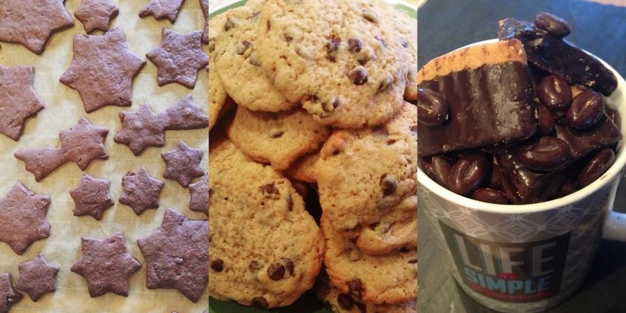 Kese³: After-Eight Biscuits, Chocolate Chip Coffee Cookies und Mokka Plätzchen © Hannah Rautenberg
